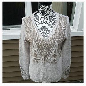 Hollister Multi Color Brown Ladies Sweater Sz M